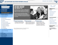 SAP Partner Catalog Home Page